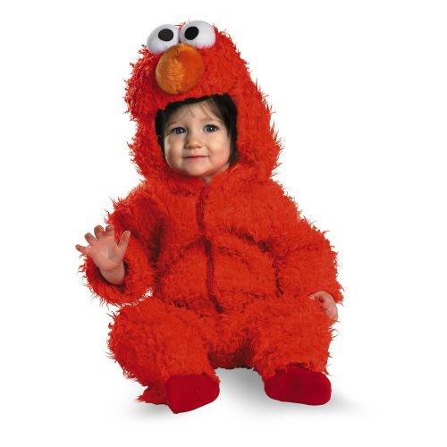 SESAMSTRASSE - ELMO Plüsch Kostüm Gr. 74-80 (Elmo Baby Kostüm)