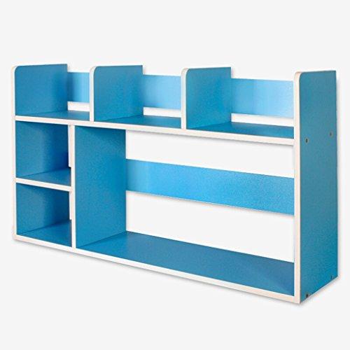 Librería Soporte de libro 80 (L) * 21 (W) * 46,5 (H) cm Estante de almacenamiento Estante Blanco Azul ( Color : Azul )