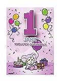 Depesche 5598.002 Glückwunschkarte mit Motiv von Archie, 1. Geburtstag, pink, Mehrfarbig