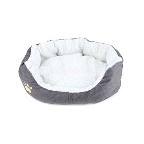 sungpunet grau rund oder oval Form Bohrmulden-Fleece Nistkasten Liegehöhle PET CAT Bett für Katzen und kleine Hunde - Fleece-cat Bett