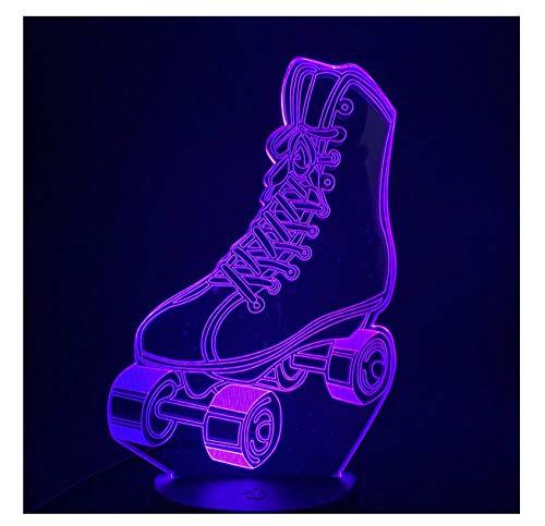 Rollschuhe 3D Led Nachtlicht Farbwechsel Für Home Room Decor Nachtlicht Kinder Kind Mädchen Touch Schalter