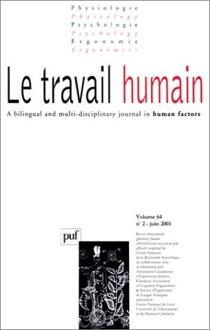 Physiologie, volume 64, numéro 2, juin 2001 : Le travail humain par Collectif