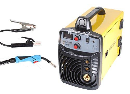 WELDINGER MIG/MAG-Schweißinverter ME 200 go 200 A Leistung Elektrodenschweißen Eurozentralanschluss Fülldrahtfunktion (Schutzgasschweißgerät)