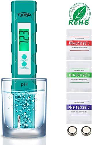 PH Messgerät PH Wert Messgerät Digital ,Tvird PH Tester Pool ATC Wasserqualitätstest Messgerät mit LCD Display Hohe Genauigkeit und automatischer Kalibrierungsfunktion ,ideales für Trinkwasser
