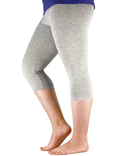 Azue Damen Leggings Grau