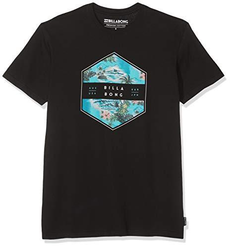 BILLABONG Herren Kurzarm-t-Shirt Access SS, Black, XL, N1SS18 BIP9 19 - Billabong Shirt Schwarz