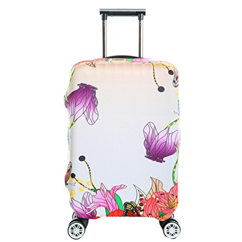 YiJee Covers Kofferschutzhülle Mit Trendigen Drucken Elastic Abdeckung 18-32 Zoll Wie Das Bild 2 M