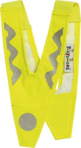 Playshoes Unisex - Kinder 541720 Sicherheitskragen, Kinderwarnweste, Sicherheits-Reflektor, ab 5 Jahre, M, Gelb (900 original )