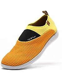 UIN Chaussure de Loafer de peinture de canevas de marche Pourpre et Blanc (41)