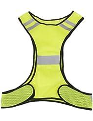 Veste Gilet de Sécurité Réfléchissant Pour Course Jogging Vélo Marche - Jaune