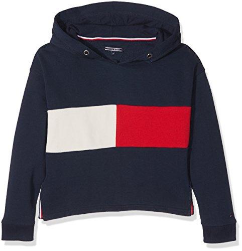 Tommy Hilfiger Mädchen Sweatshirt Flag Block HD HWK L/S, Blau (Navy Blazer 431), 3 Jahre (Herstellergröße: 3)