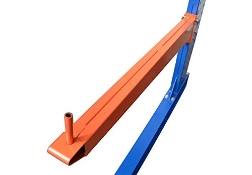 4,9m Kragarmregal doppelseitig, 200cm hoch, 50cm tief, 3 Kragarmebenen – Langgutregal Schwerlastregal - 5