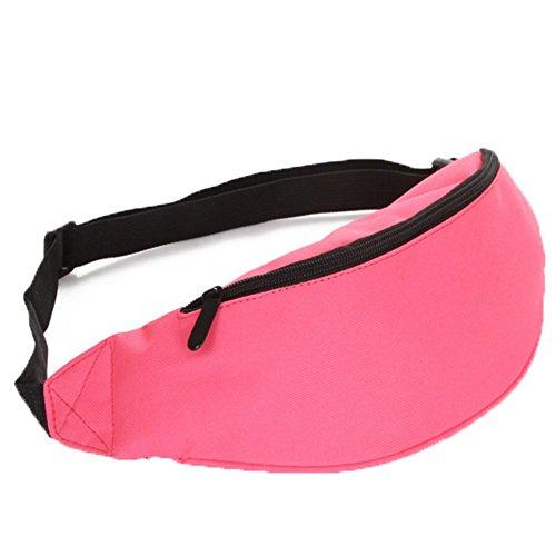 Ohmais Rücksack Rucksäcke Rucksack Beutel Schultasche Banane Leinwand für junge éudients Schülerin pink