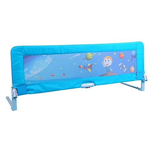 Barrières MAHZONG Rampe Robuste pour lit de bébé (L-1,2 m, L-1,8 m) - Cadre de sécurité pour Enfants (Couleur : Bleu, Taille : L-180cm)