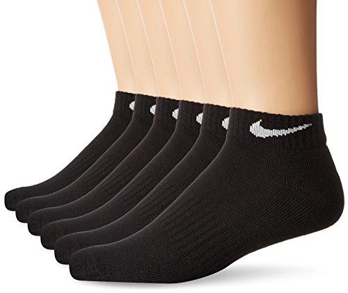 Nike Performance Kissen Low Rise Socken mit Tasche (6Paar), Damen Herren, schwarz/weiß