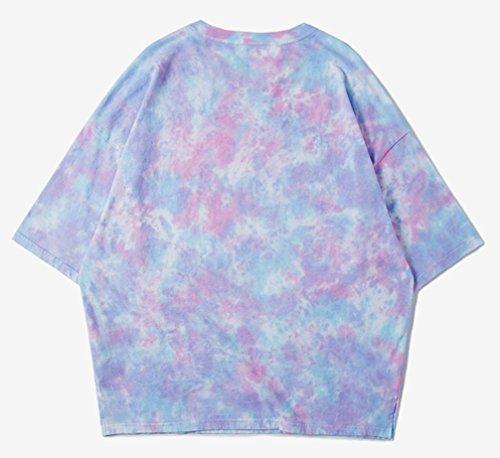 Pizoff Unisex Urban Basic Hip Hop weite Passform lässige T-Shirt in Versch Farben IF027