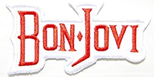 Bon Jovi bande Logo Rock Heavy Metal Punk Music Patch Sew Iron On Embroidered Badge Sign Costume Gift