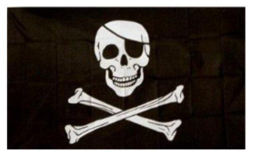 Jolly Roger - Bandera pirata (calavera con parche) oferta...