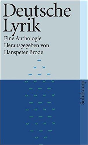 Deutsche Lyrik: Eine Anthologie (suhrkamp taschenbuch) - Moderne Bögen Sammlung