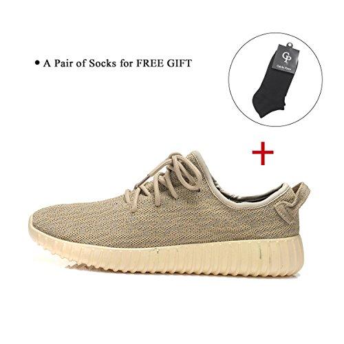 Iceunicorn Uomo Palestra Scarpe Da Corsa Sneakers Tempo Libero Lace-up Profilo Sole Scarpe Sportive Sneakers Oro