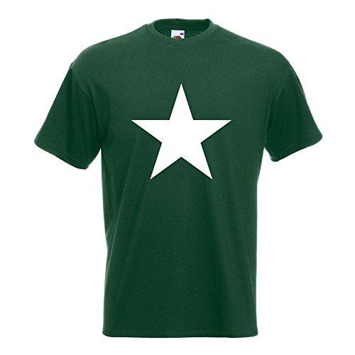 KIWISTAR - Stern Star Symbol T-Shirt in 15 verschiedenen Farben - Herren Funshirt bedruckt Design Sprüche Spruch Motive Oberteil Baumwolle Print Größe S M L XL XXL Flaschengruen