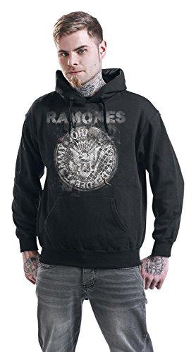 Ramones Let's Go Sweat à capuche noir Noir