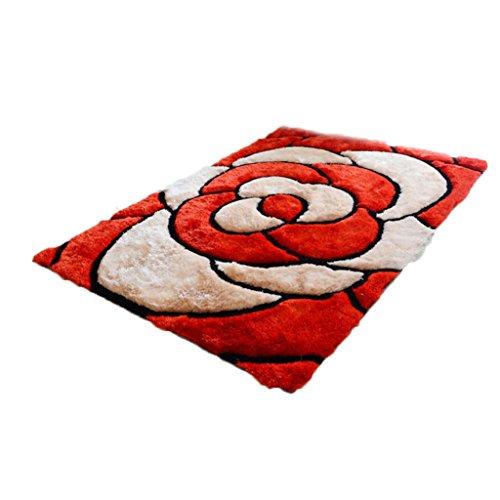 wohnzimmer-schlafzimmer-tur-matte-matte-couchtisch-rose-rot-polyester-material-blutenblatt-muster-re