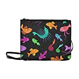 AGIRL Poisson fantaisie coloré sur sac à main mince en nylon de haute qualité sac à bandoulière Sac à bandoulière Sac à bandoulière