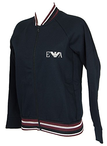"Emporio Armani Damen ""LONG SLEEVE JACKET WITH ZIP"" Loungwear Jacke 7A250163774 (M, 00135 Marine)"