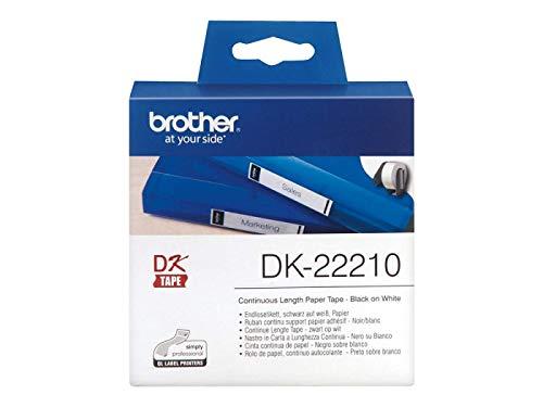 Brother DK22210 - Cinta continua papel térmico blanca