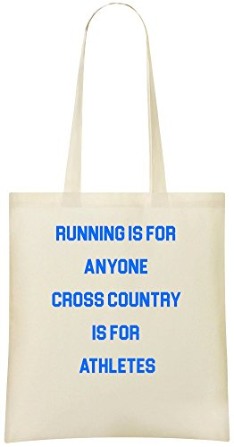 Laufen ist für jeden Cross Country - Running Is For Anyone Cross Country Custom Printed Shopping Grocery Tote Bag 100% Soft Cotton Eco-Friendly & Stylish Handbag For Everyday Use Custom Shoulder Bags