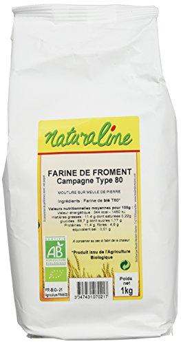 Moulin des Moines Farine de Froment Bio Campagne Extraction 80% Type 80 1 kg -