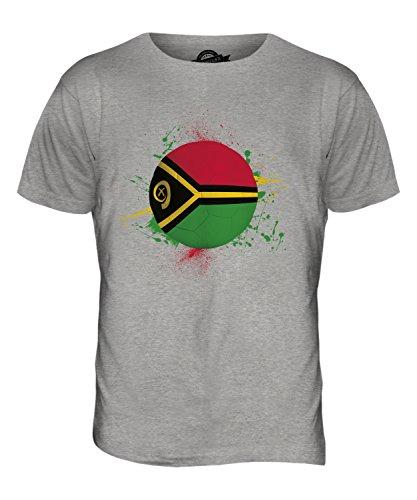 CandyMix Vanuatu Fußball Herren T Shirt Grau Meliert