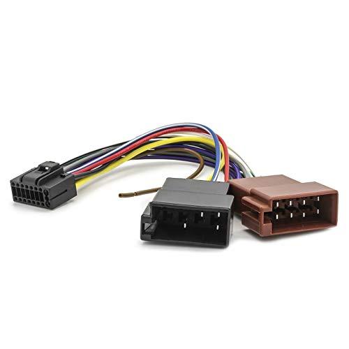 io Adapter Kabel Stecker Plug&Play DIN ISO 16 Pin Kabelbaum f JVC KD-R ()