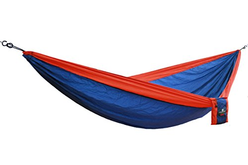 MacaMex CAMPER Reise-Hängematte für 2 Personen Blau Orange