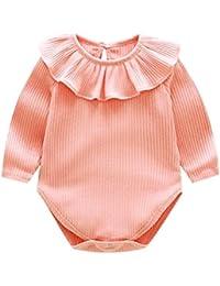 POLP Bebé Mameluco (◉ω◉) Recién Nacido Bebé Unisex Impresión Monos Conjuntos para,Niño Niña Ropa Verano Otoño,Pijama Niños…