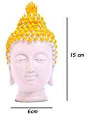 REBUY® Handcrafted Polyresin Buddha Head Figurine Idol Statue Showpiece