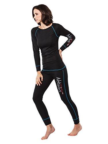 Nebulus - T-shirt Tirol - sous-vètement ski/thermique (W024) - Femmes - Noir - 38/40