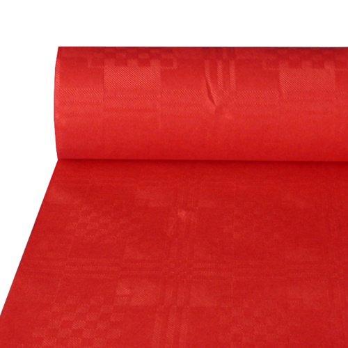 Papstar NEU Tischdecke rot, Damastprägung, 50x1m