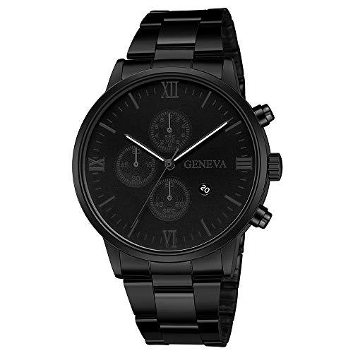 t Quarz Militär Edelstahl Zifferblatt Lederband Armbanduhren ()