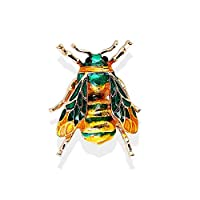 Colorful Enamel Insect Honey Bee Brooch,Cute Small Badges Unisex Insect Brooch Pin for Women Men Birthday Gifts Green