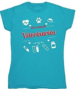 inseminación artificial gatos: HippoWarehouse Son Cosas de Veterinarios camiseta manga corta ajustada para muje...