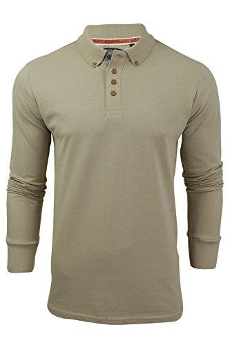 Brave Soul Uomo A Maniche Lunghe Polo T-Shirt Nuovo Lincoln piqué Cotone Con colletto Top Mushroom