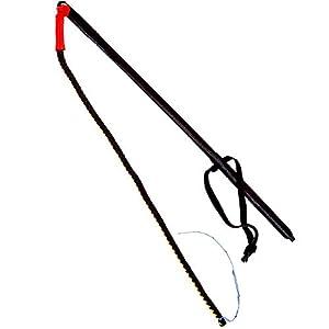 DINGO GEAR S02625 Fouet pour Dressage de Chien Noir avec Partie Rouge Ipo Tip of Links
