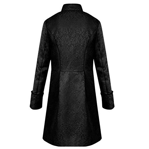 Yanhoo Herren Steampunk Vintage Herrenjacke Winter Parka Steampunk Long Coat Gothic Mantel Retro Jacke