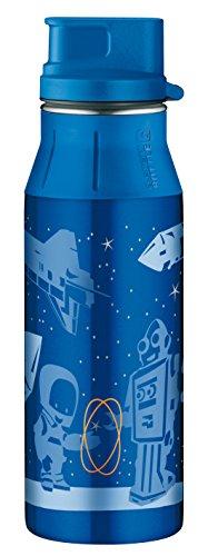 Alfi 5377102060 Trinkflasche Element Edelstahl, (0,6 Liter) blau