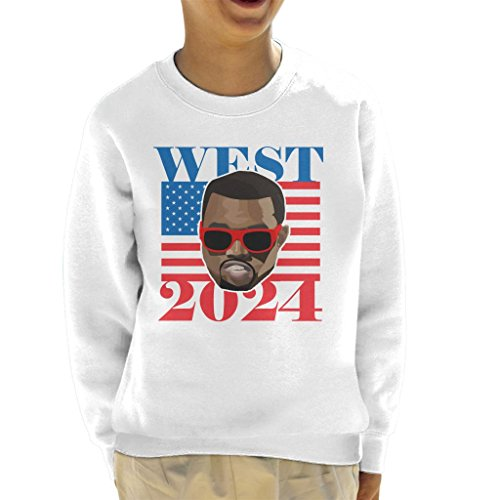 Cloud City 7 Kanye West 2024 President Kid\'s Sweatshirt