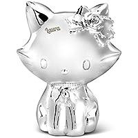 Preisvergleich für Geschenkidee.de Hello Kitty - Versilberte Spardose mit Gravur