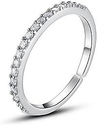 Karatcart Platinum Plated Elegant Austrian Crystal Adjustable Band Ring for Women
