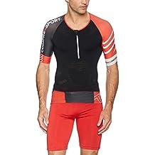 Compressport TR3 Aero - Camiseta de manga corta para hombre, camiseta, color negro, tamaño small